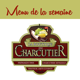 Menu Boutique du Charcutier